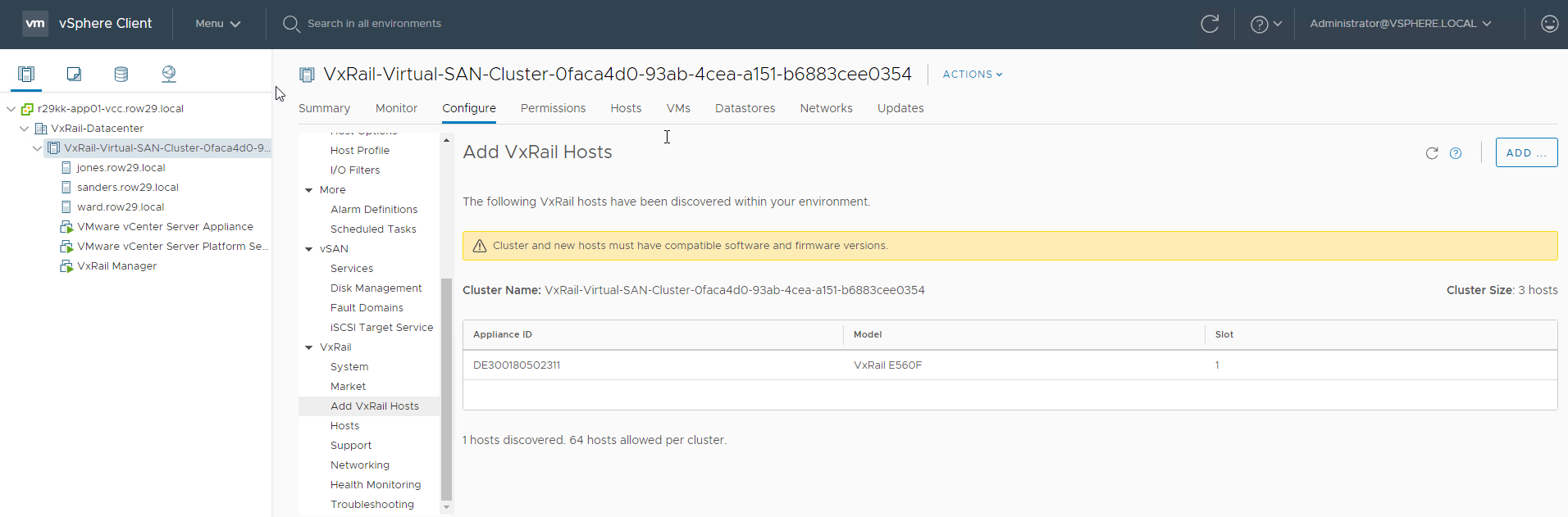VxRail 4 7 110 – Adding a Node with VxRail Manager Plugin